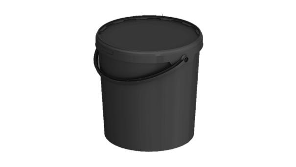 eimer jet 210 21 3 liter mit deckel schwarz verpackungen von packstar. Black Bedroom Furniture Sets. Home Design Ideas