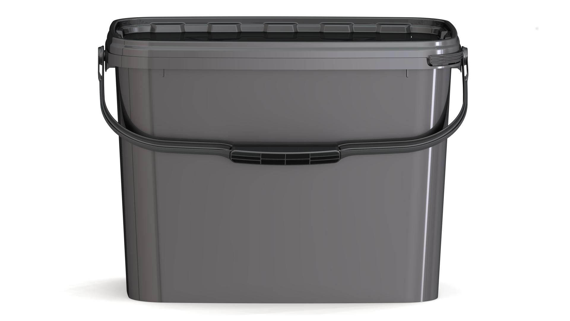 eimer jetr 80 p 8 7 liter mit deckel schwarz verpackungen von packstar. Black Bedroom Furniture Sets. Home Design Ideas