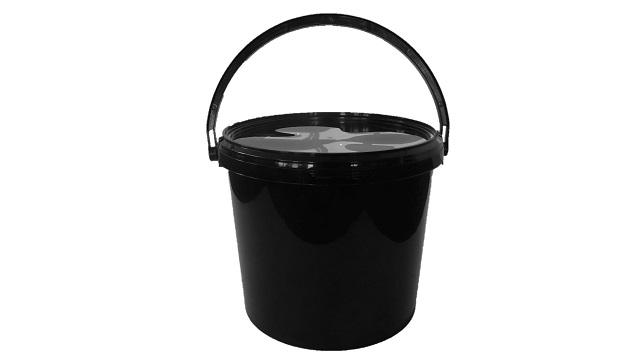 eimer jet 56 5 7 liter mit deckel schwarz verpackungen von packstar. Black Bedroom Furniture Sets. Home Design Ideas