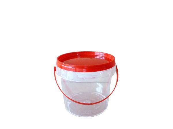 dose jetb 190 190 ml rot transparent mit deckel verpackungen von packstar. Black Bedroom Furniture Sets. Home Design Ideas