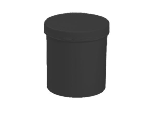 schraubdose gsd 500 500ml mit deckel schwarz verpackungen von packstar. Black Bedroom Furniture Sets. Home Design Ideas