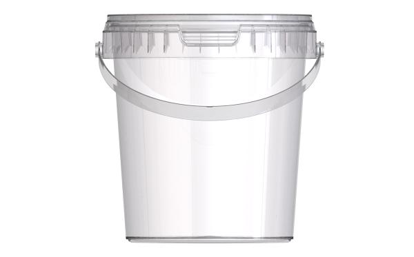 dose jetb 12 1 2 liter mit deckel transparent verpackungen von packstar. Black Bedroom Furniture Sets. Home Design Ideas